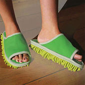 Walk 'n' Clean Mop Slippers