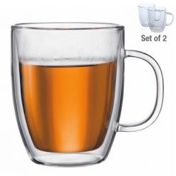 Avanti Brau Twin Wall Glass Drink Mugs