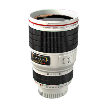 thumbsUp Camera Lens Cup (White)