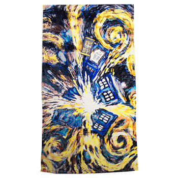 Doctor Who Tardis Exploding Beach Towel