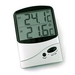 Jumbo Display Inside & Outside Thermometer