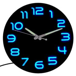30cm LED Backlit Analogue Decor Clock