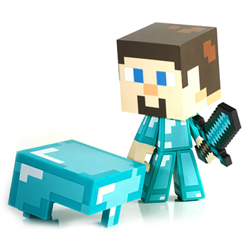 Minecraft Steve Diamond Armour Vinyl Figure